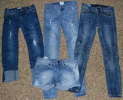 Awesome Girls Denim Lot Jeans & Shorts Hudson Joe's Size 10