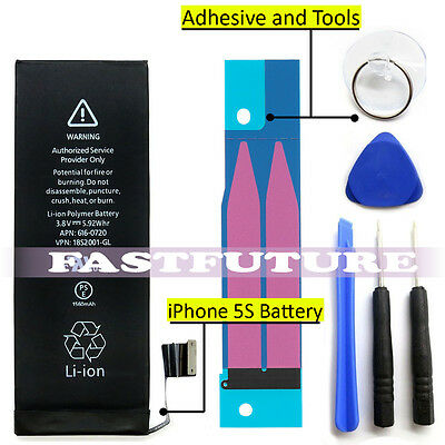 1560mAh Li-ion Battery Replacement w/ Flex Cable For iPhone 5S + Suction Tools