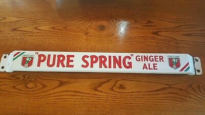 Pure Spring Ginger Ale Push Bar in MINT CONDITION!