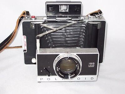 Outstanding Polaroid Land 195 Camera w/ 114mm Tominon f3.8 lens - film tested!!