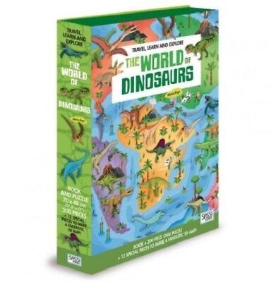 Sassi Junior Travel Learn explore World of Dinosaur Puzzle & Book Jigsaw Dino