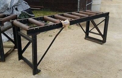 100'' Section of Roller Conveyor 3' Tall 25'' Wide w/ 3.5'' Diameter Rollers