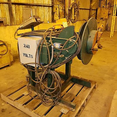 2500 Lb Aronson 2-Axis Welding Positioner 3-Jaw chuck, Foot Pedal w/VFD Control