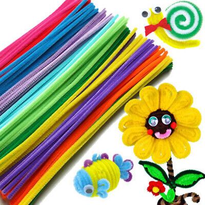 100PCS Chenille Stems Pipe Cleaners Nursery Kid Manual Making Education Toys DIY