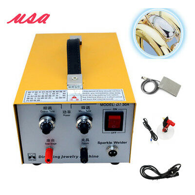 Jewelry Pulse Sparkle Spot Welder Electric Jewelry Welding Machine Gold Silver U