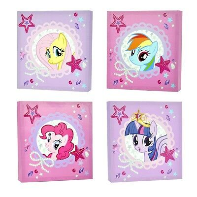 Colorful Little Pony Canvas Print Picture Framed Wall Art Kid Bedroom Decor Gift