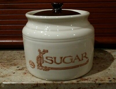 collectable AUSTRALIAN BENDIGO POTTERY LARGE SUGAR CANNISTER