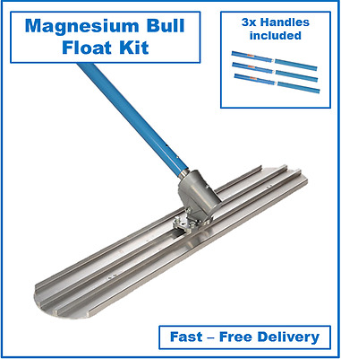 1200mm Magnesium Concrete Bull Float Kit including 3 Handles - Cement Trowel Kit