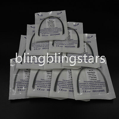 10 Packs Dental Orthodontic Super Elastic Niti Round Arch Wire Ovoid/Natural