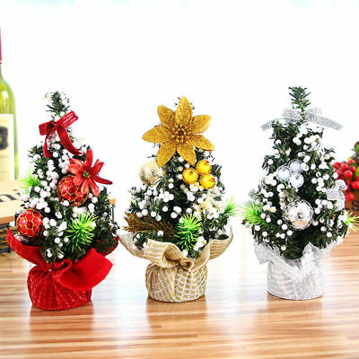 20cm Mini Christmas Tree Decor Desk Table Decor Small Party Ornaments Xmas Gift
