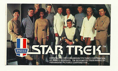1979 Aussie Star Trek Tmp Cast Shot Pauls Ice Cream Sticker Mint Unused Psa It!