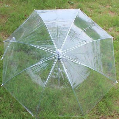 US Transparent Bridal Automatic Umbrella Wedding Rain Umbrella Dome Parasol