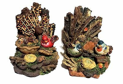 Bookends Birds Nesting Birds Nest Heavy Collectible Free Shipping