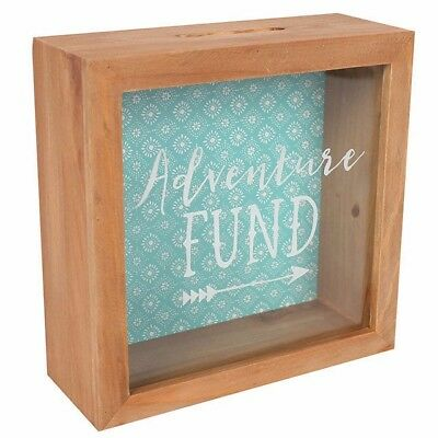 Boho Bandit Adventure Fund Glass Panel Travel Money Box Ideal for Saving