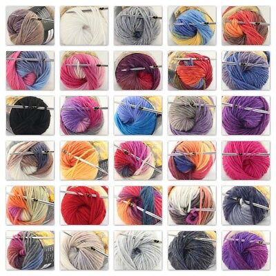 Sale Lot 1 Ball x 50gr New Knitting Yarn Chunky Colorful Hand Wool Wrap Scarves