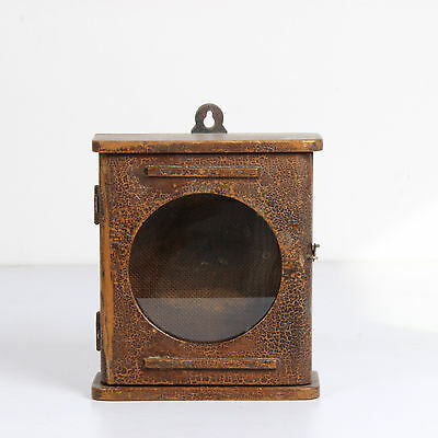 Vintage Old Wooden Hand Carved Wall Fixing Alarm Clock Case Box-Ebay_3651Rb10