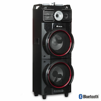NGS Wild Techno 500W Double Subwoofer Bluetooth Tower/Speaker
