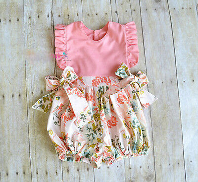 AU Stock Toddler Kids Baby Girl Romper Jumpsuit Bodysuit Sunsuit Clothes Outfits
