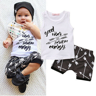 AU Stock Newborn Kids Baby Boy Summer T-shirt Tops+Shorts Pants Outfit Clothes