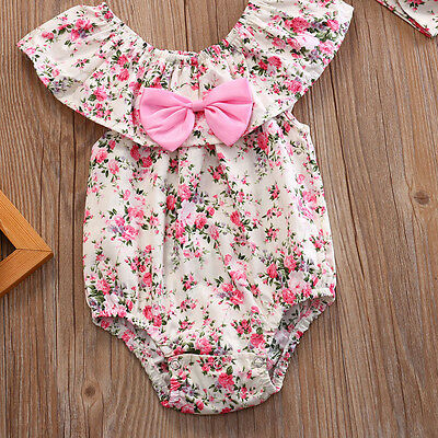 AUStock Toddler Baby Girl Bodysuit Romper Jumpsuit Outfit Summer Sunsuit Clothes