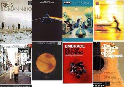 Music Books Chords Songbook Learn Play Piano Guitar TAB OASIS BLUR PINK FLOYD