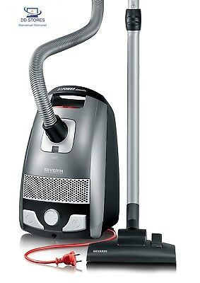Severin BC 7045 S'Power Snowwhite Aspirateur Traineau Gris Platine/Rouge...