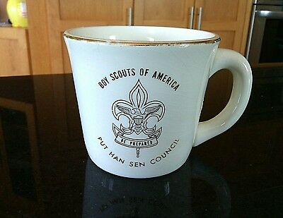 Vintage Scouts America Coffee Mug Put Han Sen Council Boy BSA Cup Tea Drinks USA
