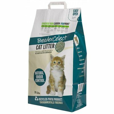 Breeder Celect Recycled Paper Cat Litter 20ltr