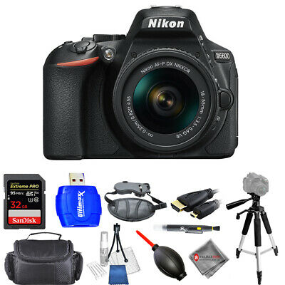 Nikon D5600 DSLR Camera with 18-55mm Lens - USA Model Pro Bundle Brand New