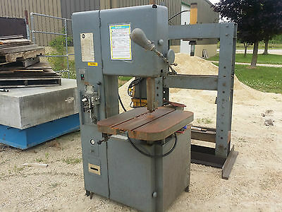 "18"" Grob #4V-18 Vertical Bandsaw, Power feed, Work light, 240V/1 ph Blade Welder"