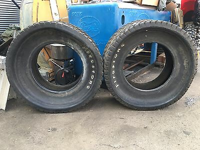 Vintage Firestone Sprint Car Dirt Track Tires diamond 50s 60s VTG Rare 32 ford