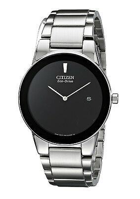 eebec7e2c14 CITIZEN Eco-Drive AU1060-51E AXIOM 2-Hand Black Dial Men s Stainless Steel