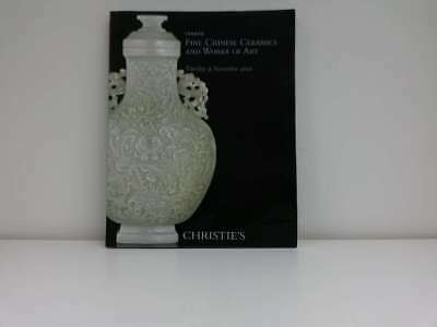 Fine Chinese Ceramics and Works of Art London Tuesday November 9, 2010, Christie