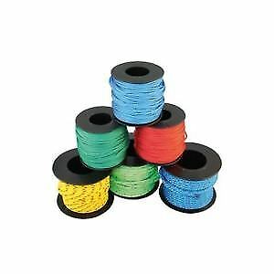 Braided Polyester Rope Mini Coils 3mm Uni-coloured X5 pcs LINDEMANN
