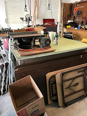 Vintage Wards Power Kraft Table Saw Factory. Number 813 Circa 1947