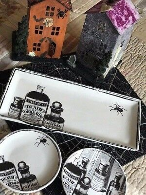 Connections Halloween Apothecary Plate Platter Trinket Dish Warlock Potion New!