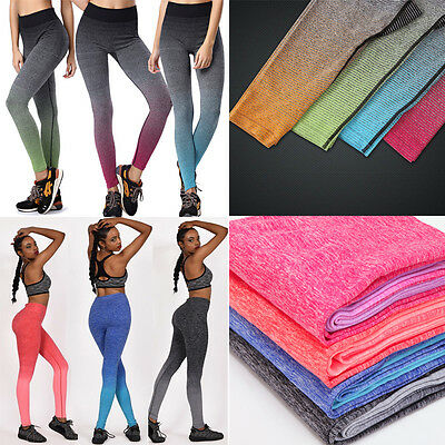Women Yoga Running Fitness Leggings Pants Sports Gym Jumpsuit Athletic Trousers