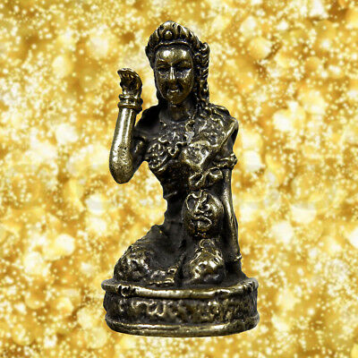 Goddess Call Money Nang Kwak Good Trade Amulet Statue Magic Talisman Wealth Rich