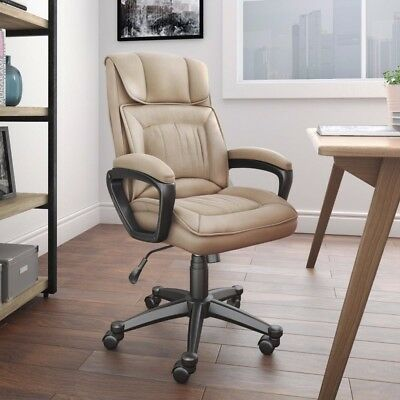 Cyrus Swivel High Back PU Leather Executive Computer Office Desk Chair Brand New