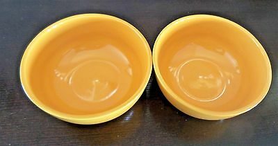 Tabletops Gallery Amalfi Round Coupe Deep Cereal/Soup Bowls x2 Yellow