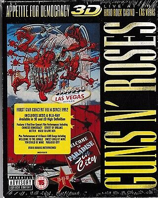 Guns N' Roses- Live at the Hard Rock Casino Las VegasDeluxe 3D Bluray+2CD sealed