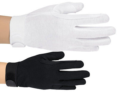 Deluxe 100% Cotton Band / Parade Gloves - White or Black - Free Shipping
