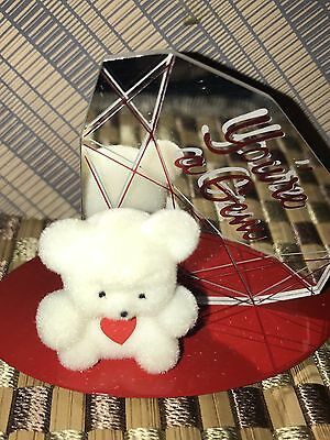 Avon Gift Collection You're A Gem Valentine Teddy Bear Ornament  NIB Vintage