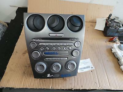 Mazda 6 Radio/cd/dvd/sat/tv Standard Cd Player-In Dash Stacker Type, Gg/gy, 09/0