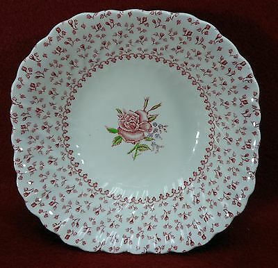 JOHNSON BROTHERS china ROSE BOUQUET pattern Square Soup or Salad Bowl 7""