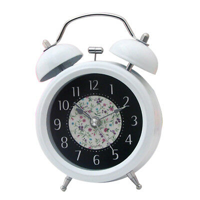 Vintage Twin Bell Analog Quartz Alarm Clock for Heavy Sleepers and Travel