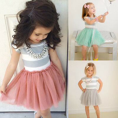 AU Seller Baby Girls Lace Dress Kids Party Pageant Princess Casual Tutu Dresses