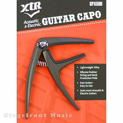 Xtr Capo  Acoustic & Electric Guitar Fast Action Lightweight Alloy Easy To Use