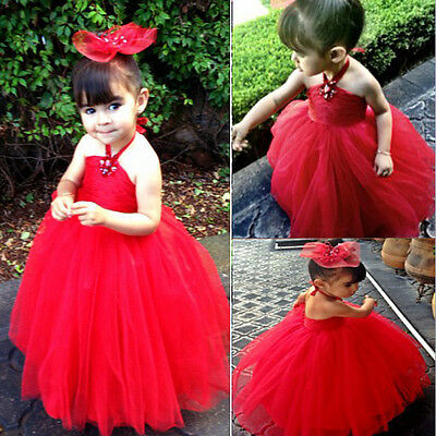 AU Girl kids Pageant Dress Bridesmaid Prom Party Princess Ball Gown Formal Dress