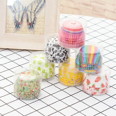 100Pcs Mini Cupcake Liners Paper Cases Cake Baking Muffin Cup Xmas Wedding Tools
